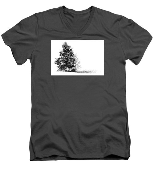 The Lone Pine Men's V-Neck T-Shirt by Jim Rossol