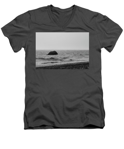 The Lone Rock Men's V-Neck T-Shirt