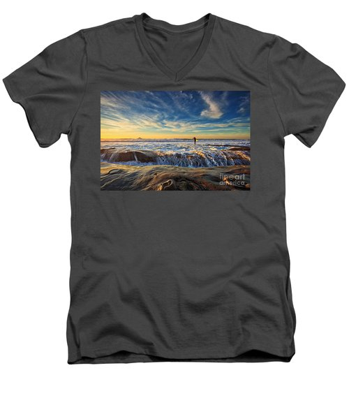 The Lone Surfer Men's V-Neck T-Shirt