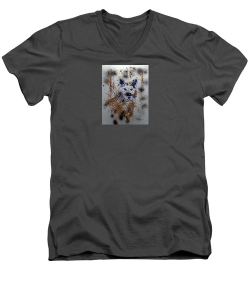 The Lone Wolf  Canis Lupus Men's V-Neck T-Shirt