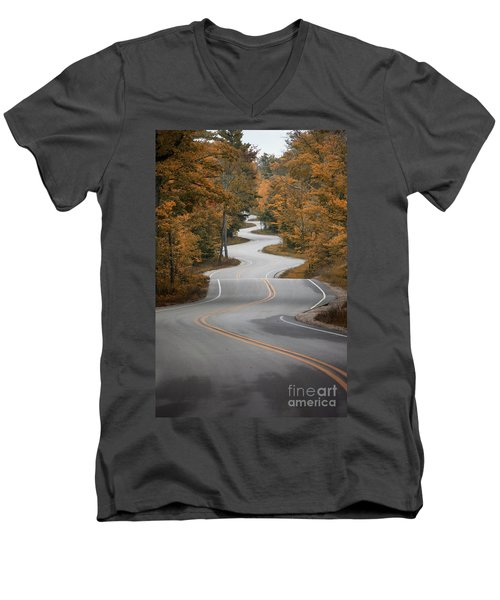 The Long Winding Road Men's V-Neck T-Shirt