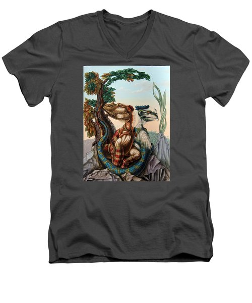 The Lost World  By Sir Arthur Conan Doyle Men's V-Neck T-Shirt