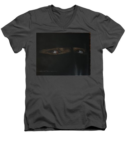 The Lovely Bride Hyphemas Portrait Men's V-Neck T-Shirt