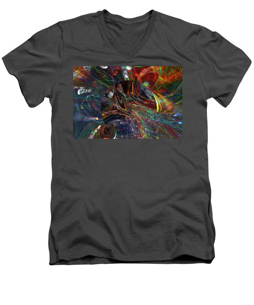 The Lucid Planet Men's V-Neck T-Shirt by Richard Thomas