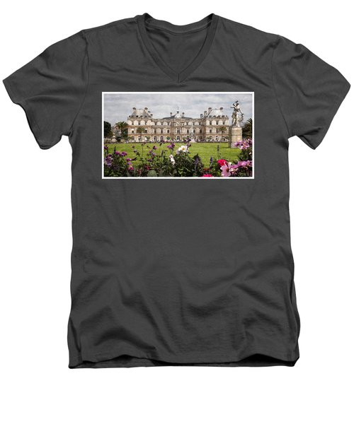 The Luxembourg Palace Men's V-Neck T-Shirt by Kai Saarto