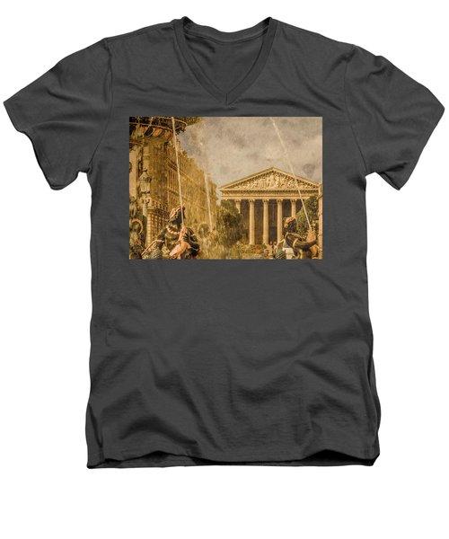 Paris, France - The Madeleine Men's V-Neck T-Shirt