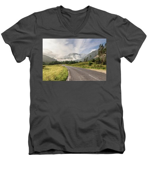 Men's V-Neck T-Shirt featuring the photograph The Magic Morning by Sergey Simanovsky