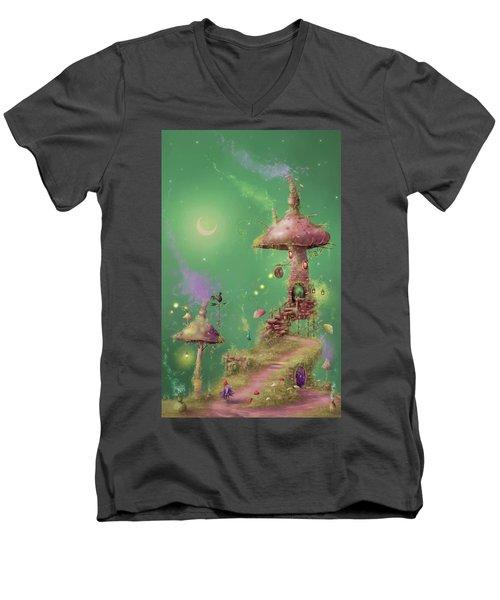 The Mushroom Gatherer Men's V-Neck T-Shirt