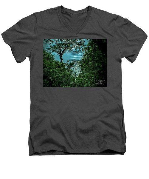 The Majestic Victoria Falls Men's V-Neck T-Shirt by Karen Lewis