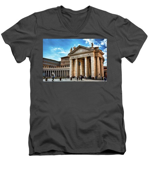 The Majesty Of The Tuscan Colonnades Men's V-Neck T-Shirt