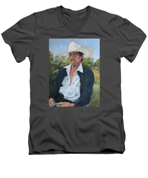 The Man From The Valley Men's V-Neck T-Shirt by Connie Schaertl