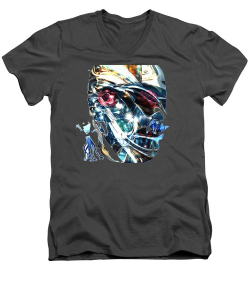The Man In The Chromium Mask Men's V-Neck T-Shirt