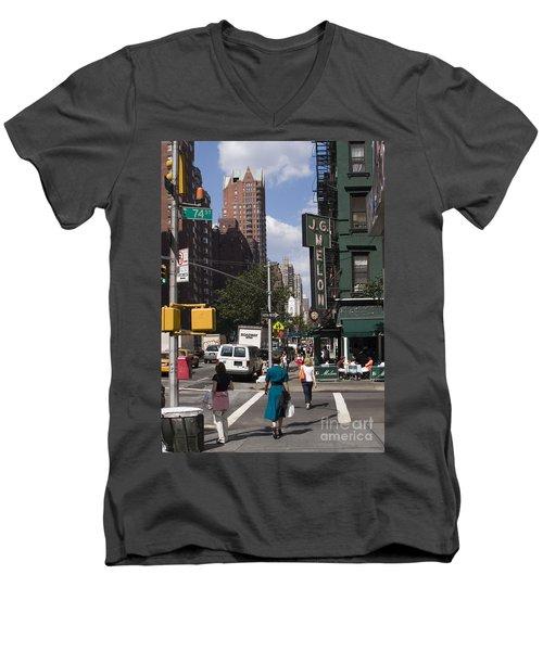 The Manhattan Sophisticate Men's V-Neck T-Shirt