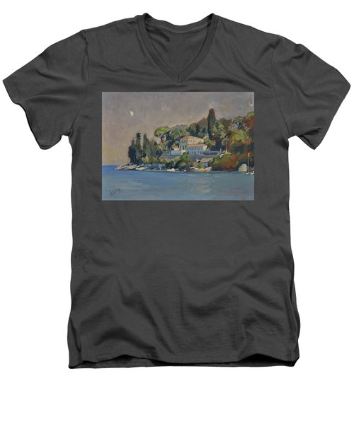 The Mansion House Paxos Men's V-Neck T-Shirt by Nop Briex