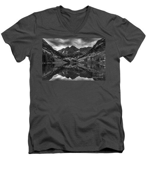 The Maroon Bells Men's V-Neck T-Shirt