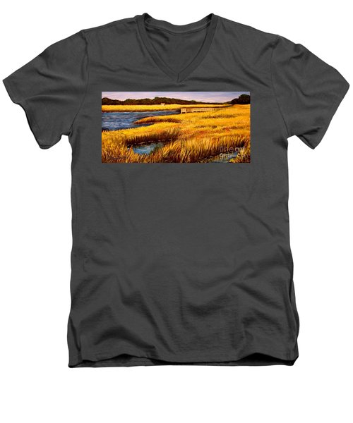 The Marsh At Cherry Grove Myrtle Beach South Carolina Men's V-Neck T-Shirt