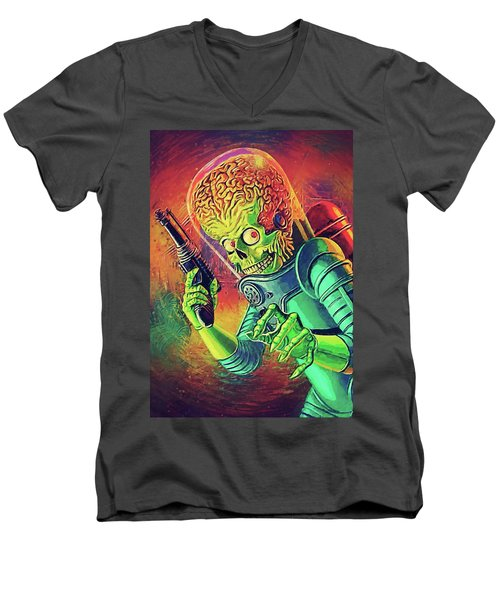 The Martian - Mars Attacks Men's V-Neck T-Shirt