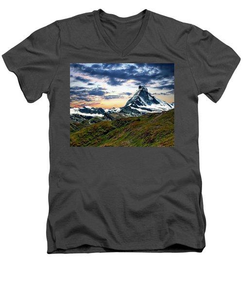 The Matterhorn Men's V-Neck T-Shirt
