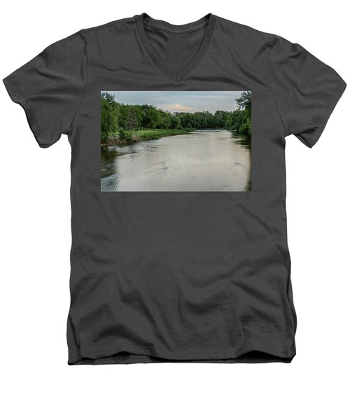 The Maumee River Men's V-Neck T-Shirt