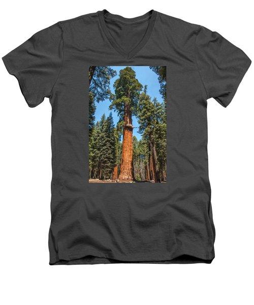The Mckinley Giant Sequoia Tree Sequoia National Park Men's V-Neck T-Shirt