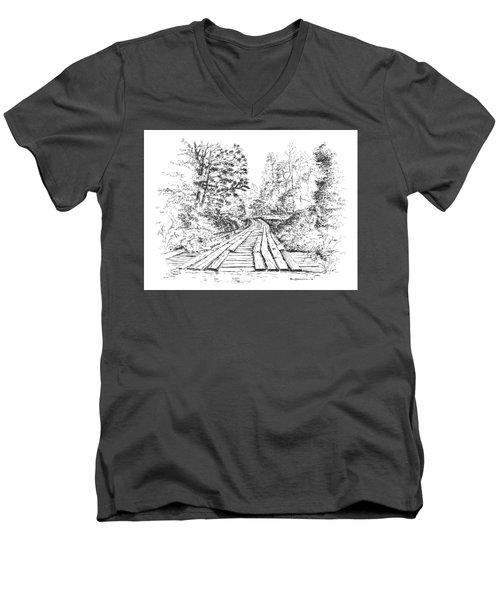 The Mcneely Bridge Men's V-Neck T-Shirt