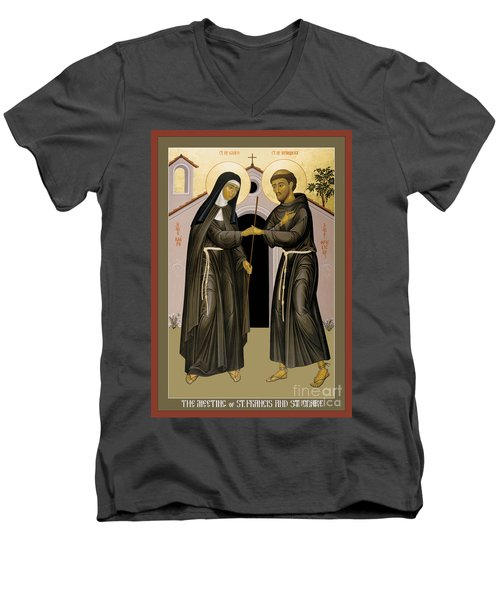 The Meeting Of Sts. Francis And Clare - Rlfac Men's V-Neck T-Shirt
