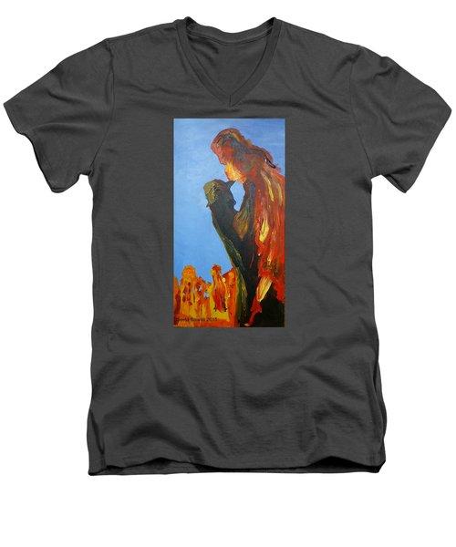 The Melting Men's V-Neck T-Shirt by Geeta Biswas