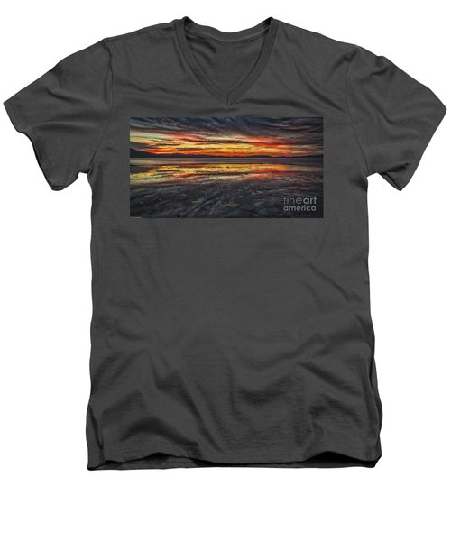 Men's V-Neck T-Shirt featuring the photograph The Melting Pot by Mitch Shindelbower