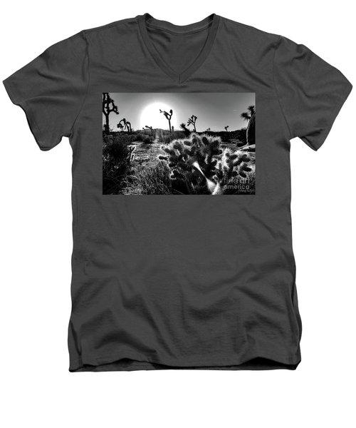 Merciless, Black And White Men's V-Neck T-Shirt