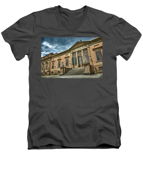 The Meridian Palace In The Pitti Palace Men's V-Neck T-Shirt