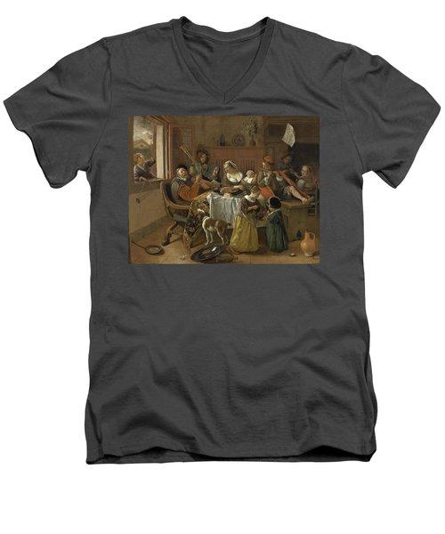 The Merry Family,1668 Men's V-Neck T-Shirt