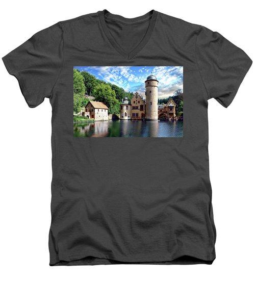 The Mespelbrunn Castle Men's V-Neck T-Shirt