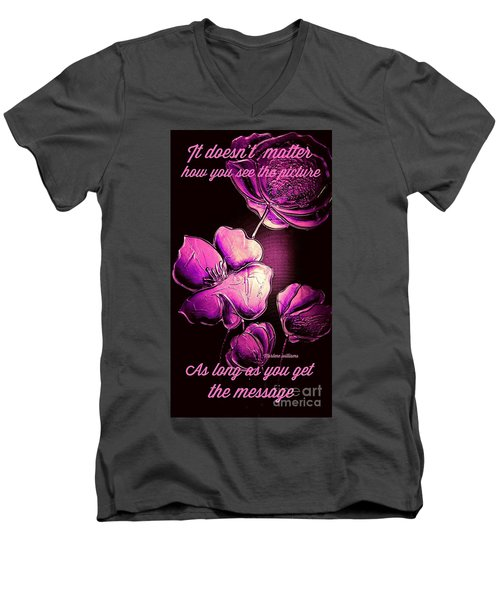 The Message  Men's V-Neck T-Shirt