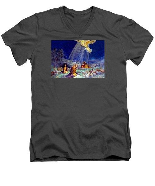The Message To Shepherds Men's V-Neck T-Shirt by Munir Alawi