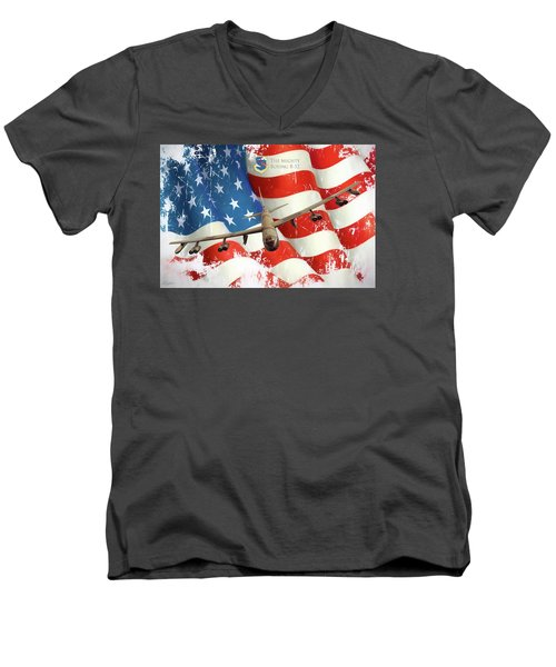 The Mighty B-52 Men's V-Neck T-Shirt by Peter Chilelli
