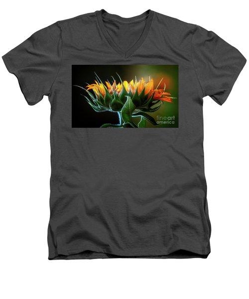 The Mighty Sunflower Men's V-Neck T-Shirt
