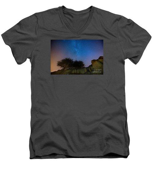 The Milky Way Above Shell Beach Men's V-Neck T-Shirt