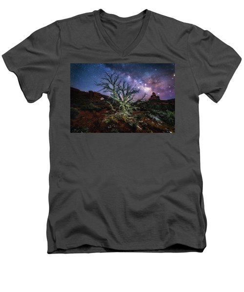 The Milky Way Tree Men's V-Neck T-Shirt
