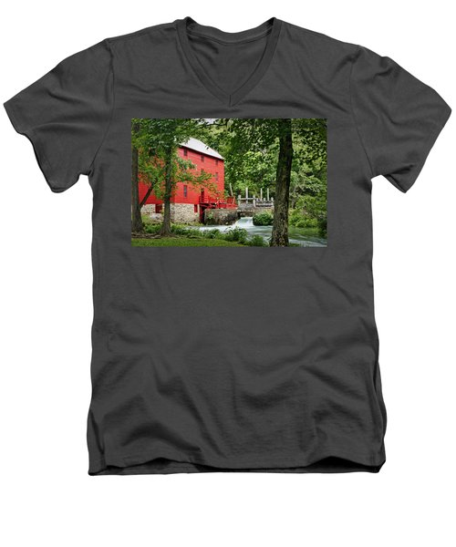 The Mill At Alley Spring Men's V-Neck T-Shirt