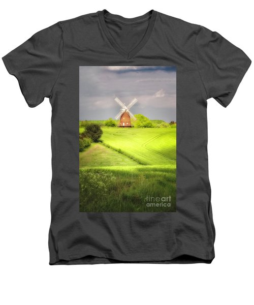 The Mill Uphill Men's V-Neck T-Shirt by Jack Torcello