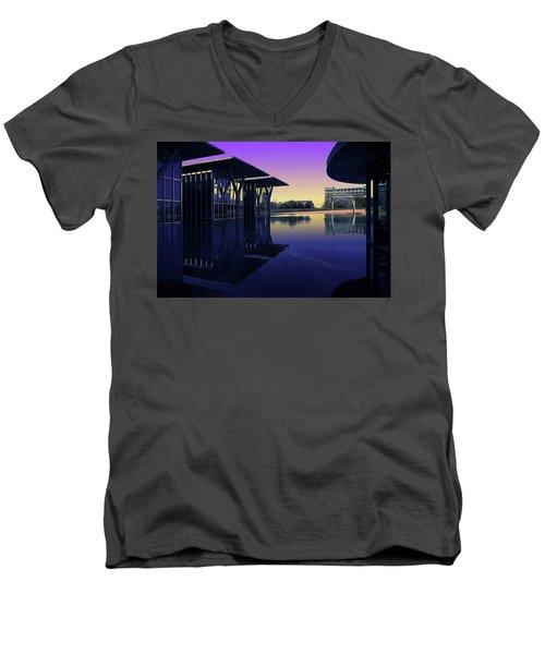 The Modern, Fort Worth, Tx Men's V-Neck T-Shirt by Ricardo J Ruiz de Porras