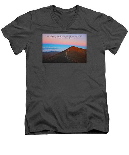 The Moments That Take Our Breath Away Men's V-Neck T-Shirt by Venetia Featherstone-Witty
