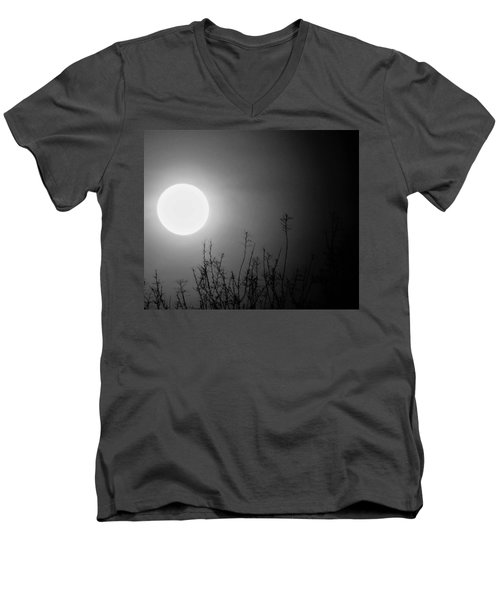 The Moon And The Stars Men's V-Neck T-Shirt by John Glass