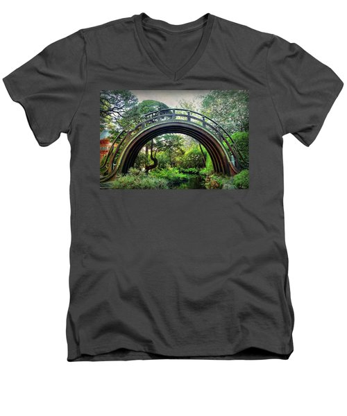 The Moon Bridge Men's V-Neck T-Shirt