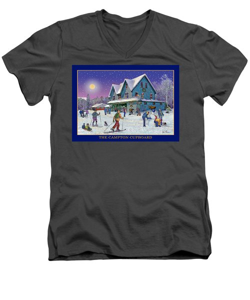The Morning After At Campton New Hampshire Men's V-Neck T-Shirt