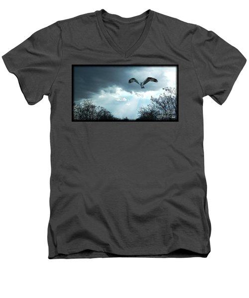 The Hawk Men's V-Neck T-Shirt