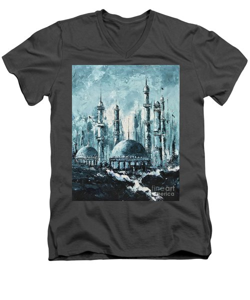 The Mosque-2 Men's V-Neck T-Shirt
