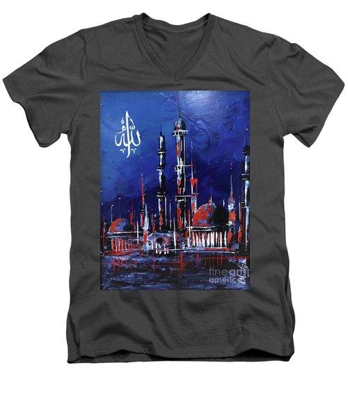 The Mosque-4 Men's V-Neck T-Shirt