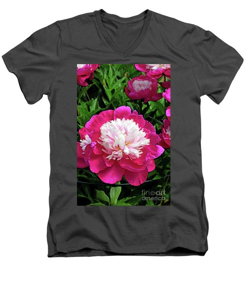 The Most Beautiful Peony Men's V-Neck T-Shirt by Eva Kaufman