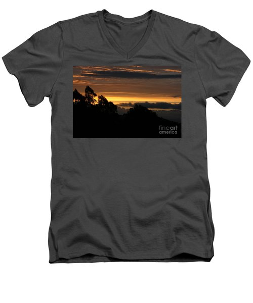 The Mountain At Sunrise Men's V-Neck T-Shirt